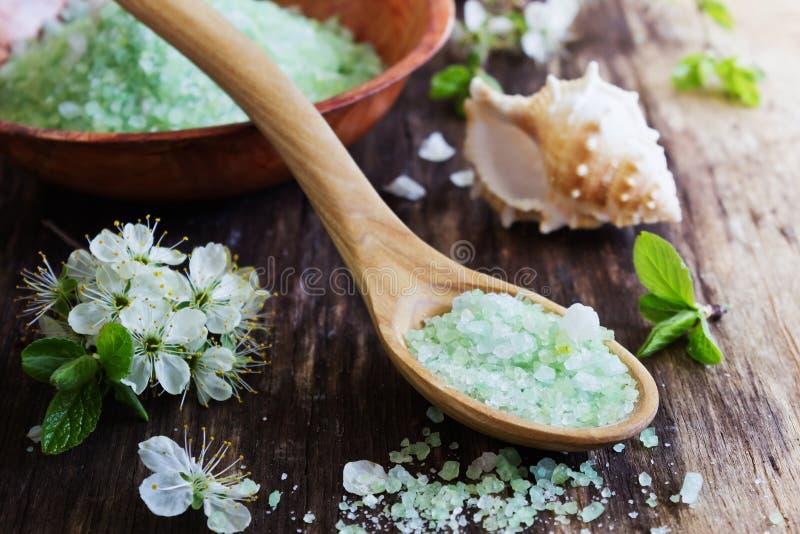Bath salt royalty free stock images