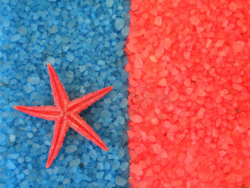Bath salt and starfish royalty free stock images
