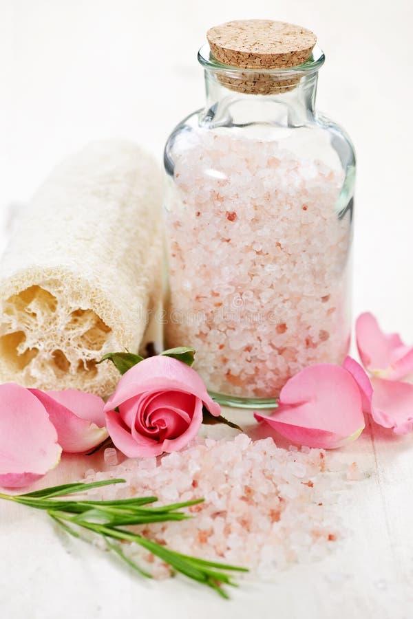 Bath salts stock images