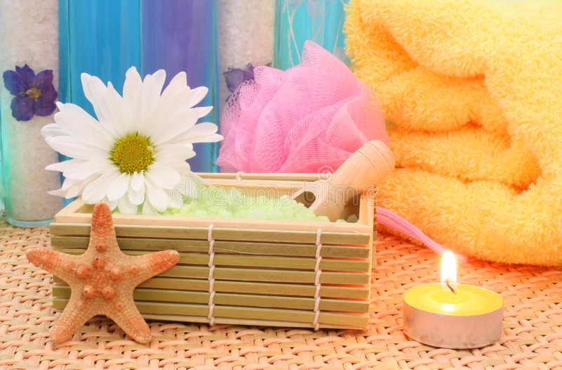 Bath Salts and Soap stock images