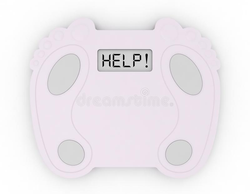 Download Bath Scale stock illustration. Image of diabetic, calorie - 13598271