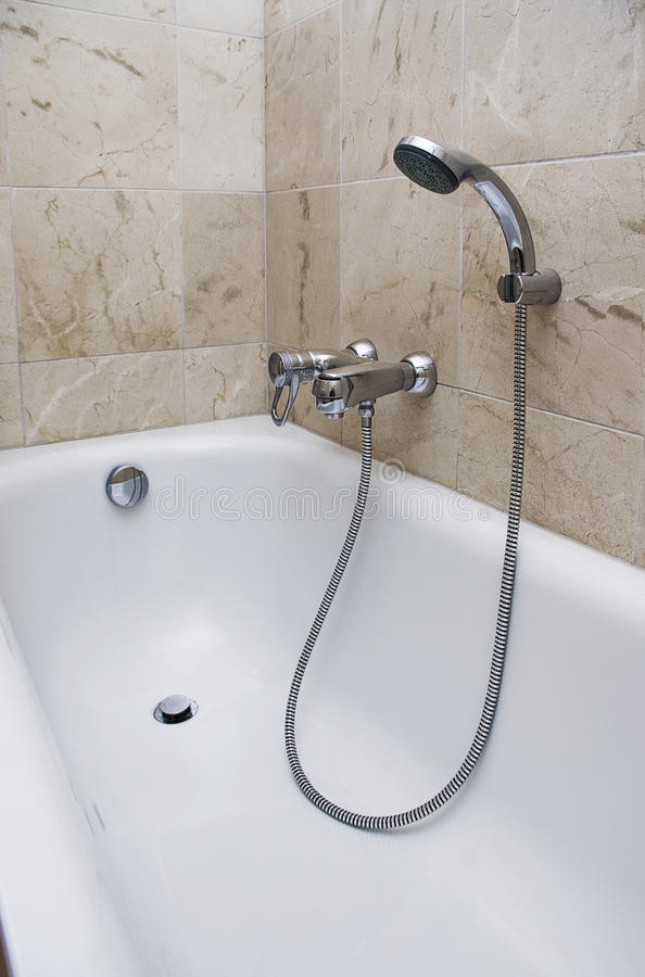 Download Bath With Shower Attachment Stock Photo - Image: 11173180