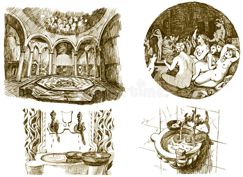 Download Bath - spa stock vector. Illustration of hygiene, artwork - 24104934