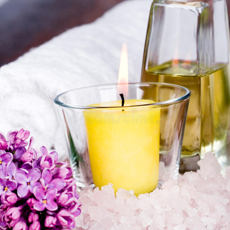 Bath and spa items royalty free stock photography