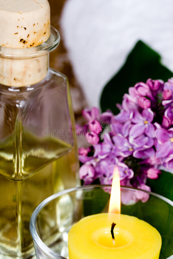Download Bath and spa items stock photo. Image of flower, body - 14387498