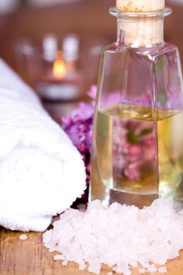Bath and spa items stock photos