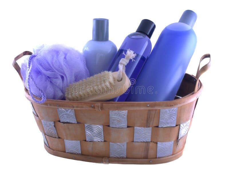 Bath stuff. Isolated bath products stock photography