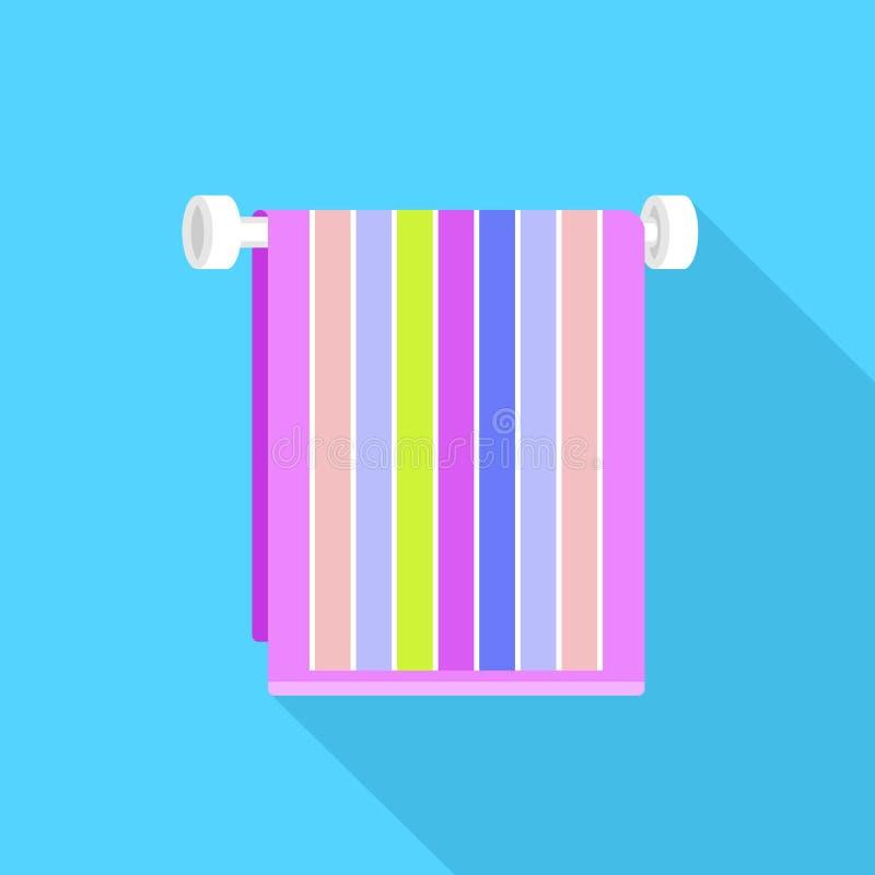 Bath towel icon, flat style vector illustration