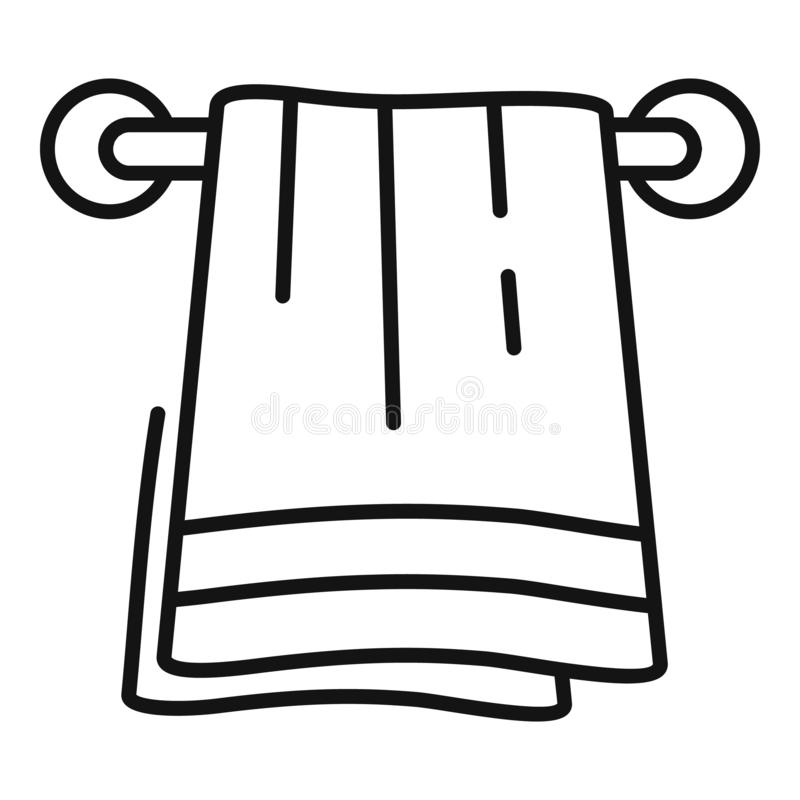 Bath towel icon, outline style vector illustration