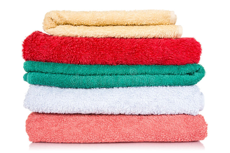 Bath towels royalty free stock photos