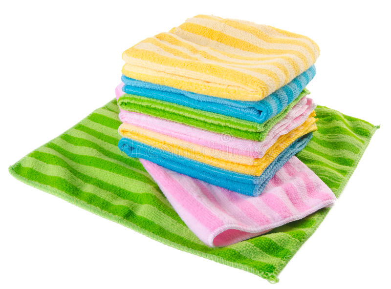 Bath Towels In White Background Stock Image