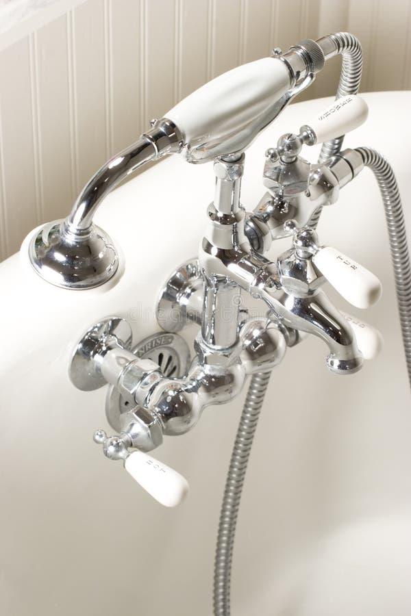 Bath tub faucet stock images