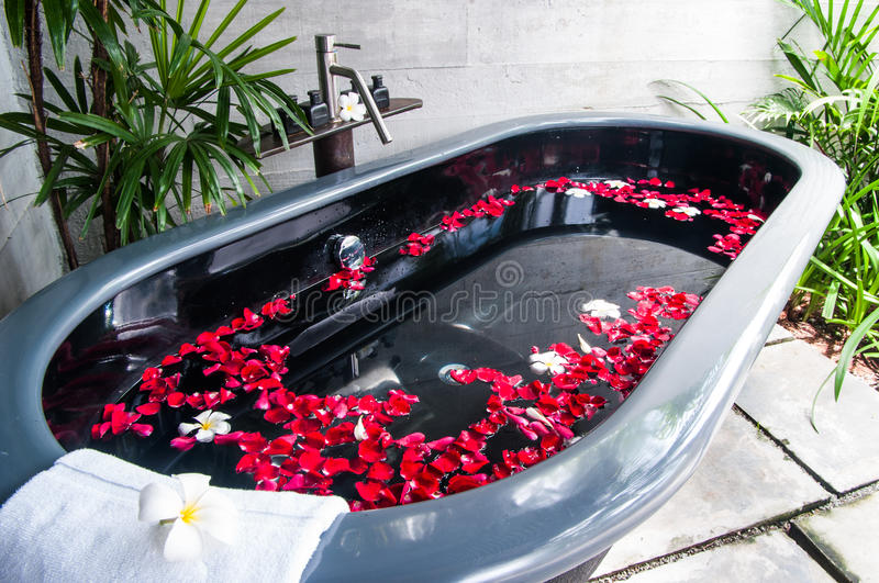 Bath tube in a spa royalty free stock image
