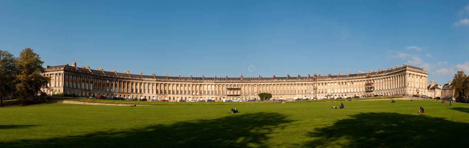 The Royal Crescent in Bath, UK royalty free stock photos