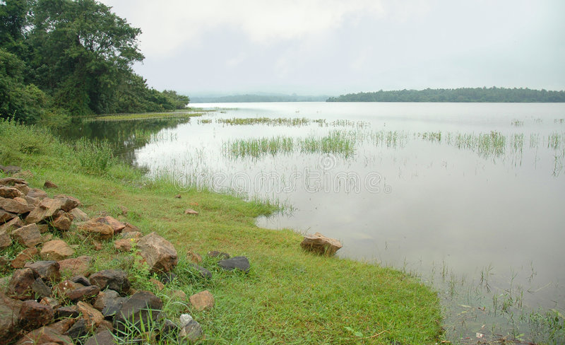 bathalagoda jeziora wewa fotografia stock