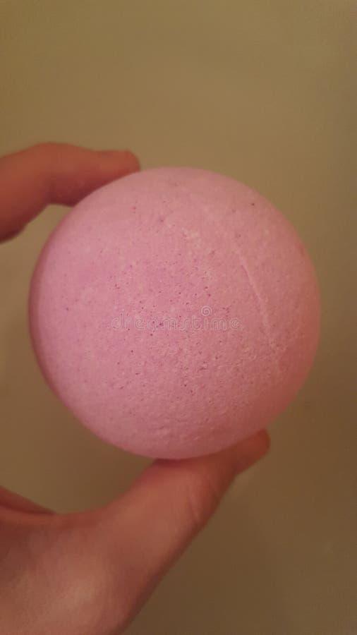 Bathbomb rosado imagen de archivo
