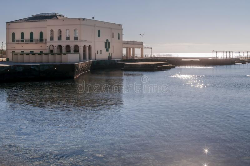 Bagni Pancaldi, Bathhouse in the center of Livorno, Tuscany, Italy. Bathhouse in the center of Livorno, Tuscany, Italy, Europe in a sunny, day royalty free stock photography