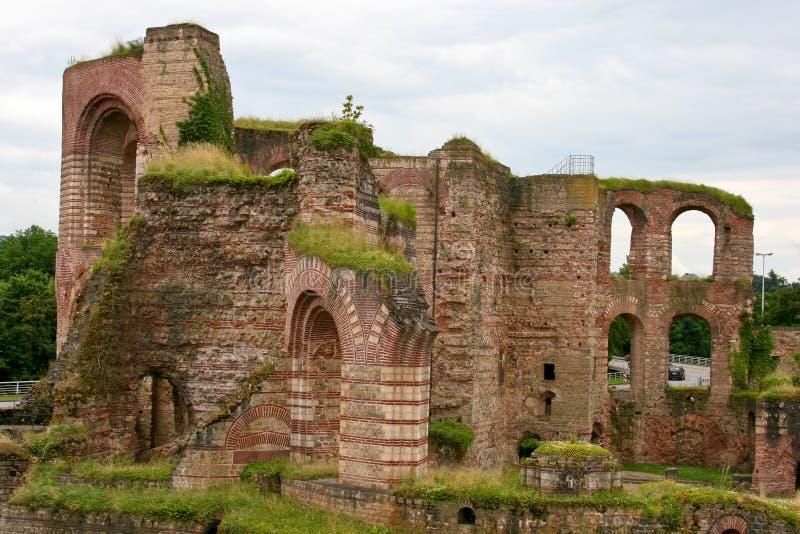 Bathhouse romano, Trier, Alemanha imagem de stock