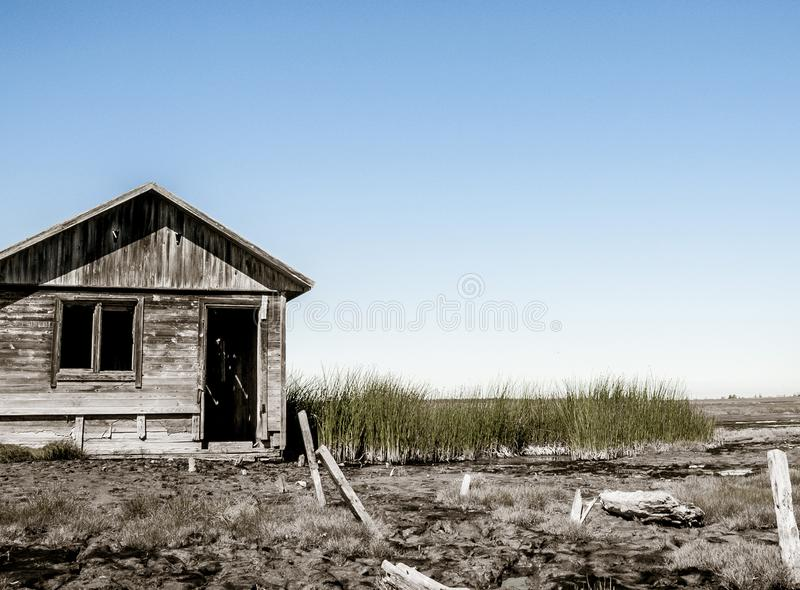 Bathhouse on the swamp royalty free stock photography