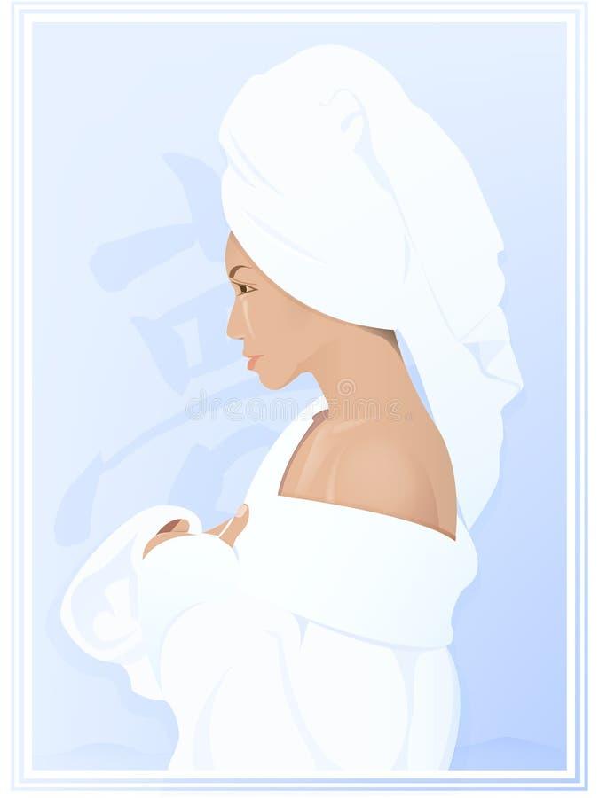 From bathing vector illustration