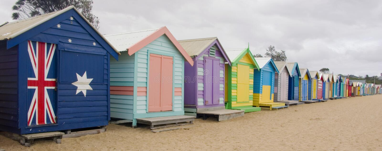 Bathing Boxes royalty free stock photo