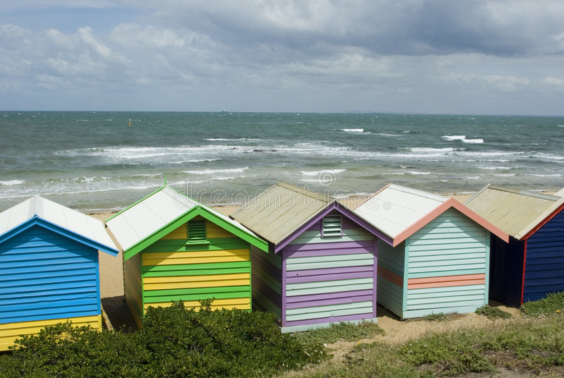 Bathing Boxes royalty free stock photography