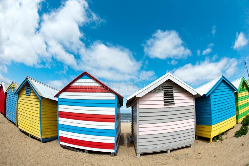 Bathing Boxes On Brighton Beach - Melbourne - Oz Royalty Free Stock Photography