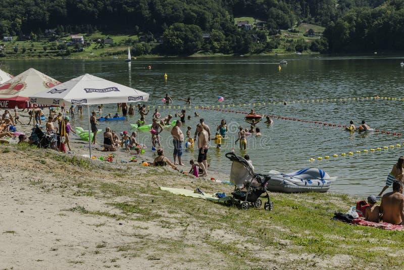 Bathing lake stock image