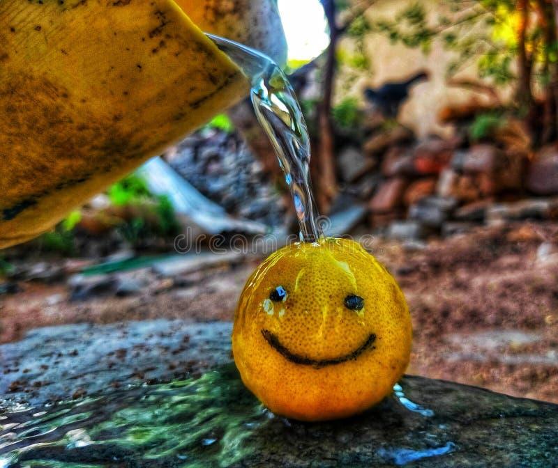 Bathing lemon heeft meer nodig royalty-vrije stock afbeeldingen