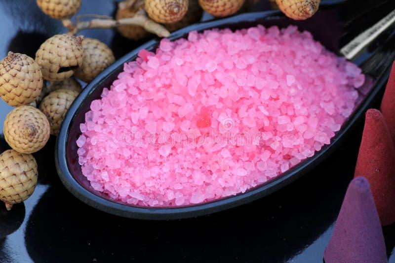 Bathing salt royalty free stock image