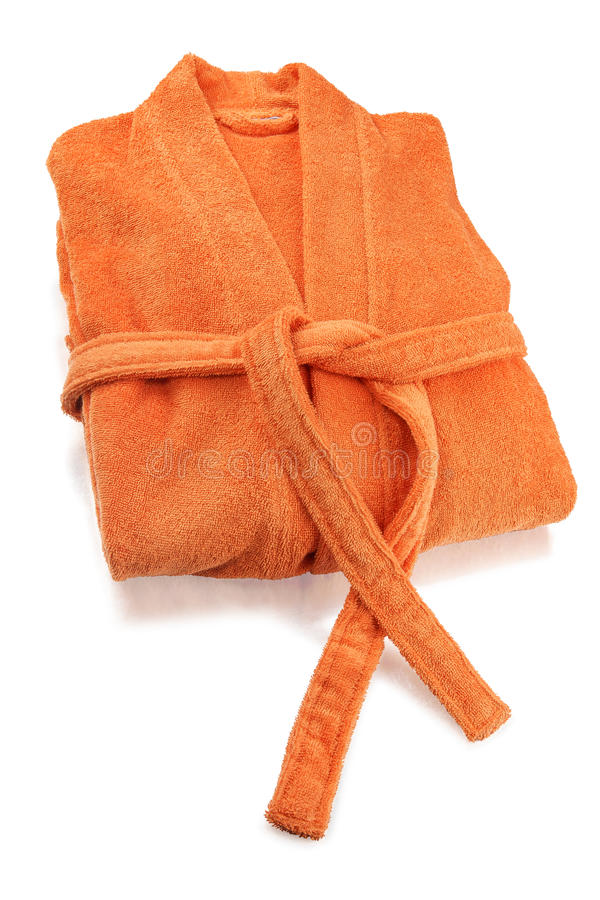 Bathrobe Orange stock photography