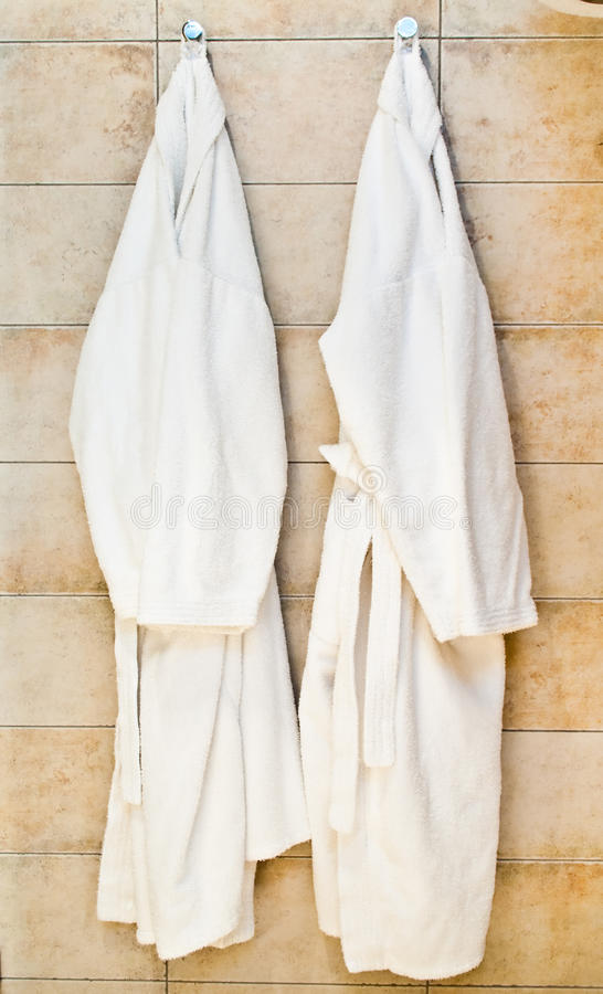 bathrobes biały fotografia royalty free