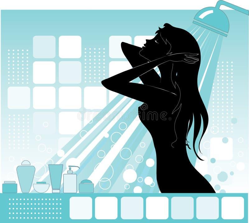 Bathroom stock illustration