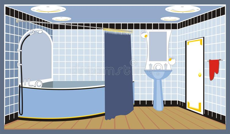 Download Bathroom stock vector. Illustration of house, complement - 13636422