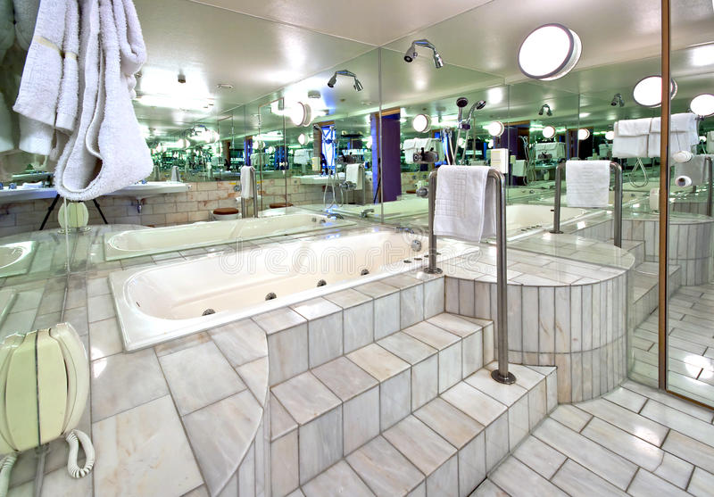 Bathroom. With whirlpool and mirrors royalty free stock image