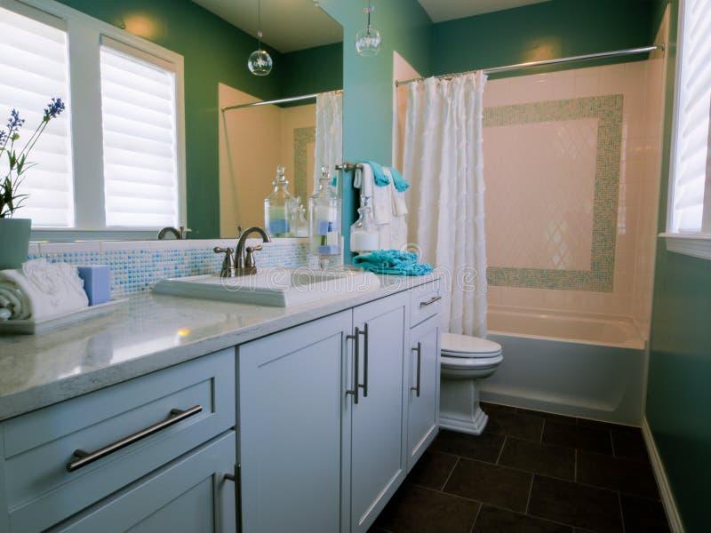 Bathroom. Residential interior of modern house stock image