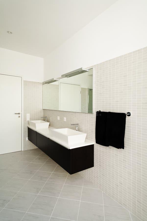 Download Bathroom stock photo. Image of mansion, light, door, view - 27011192