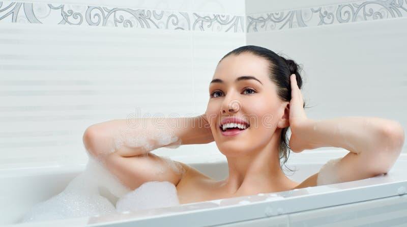 Download Bathroom stock photo. Image of model, enjoying, closeup - 28999022