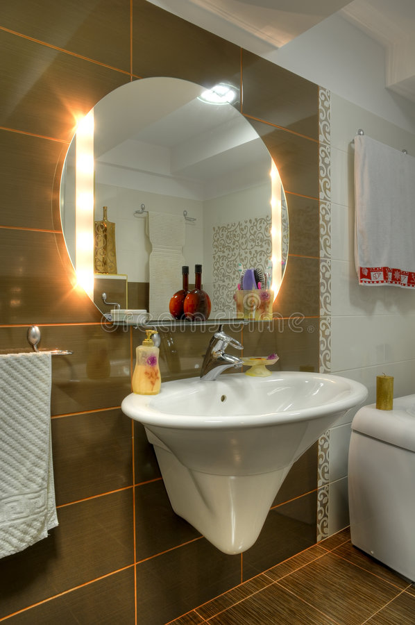 Download Bathroom stock image. Image of mirror, home, residential - 8809459