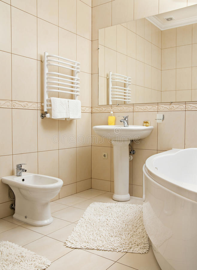 Bathroom With Accessories Stock Photo