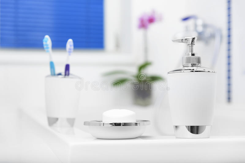 Bathroom accessories. stock image