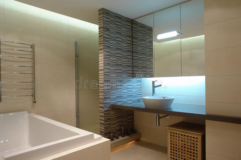 Download Bathroom stock image. Image of partition, grey, light - 39501757