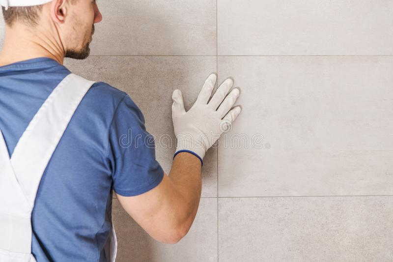 Bathroom Ceramic Tiles Wall stock photo
