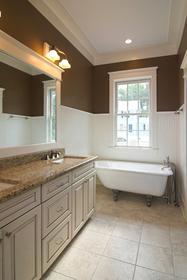Bathroom with clawfoot tub stock photo Image of crown 2367914