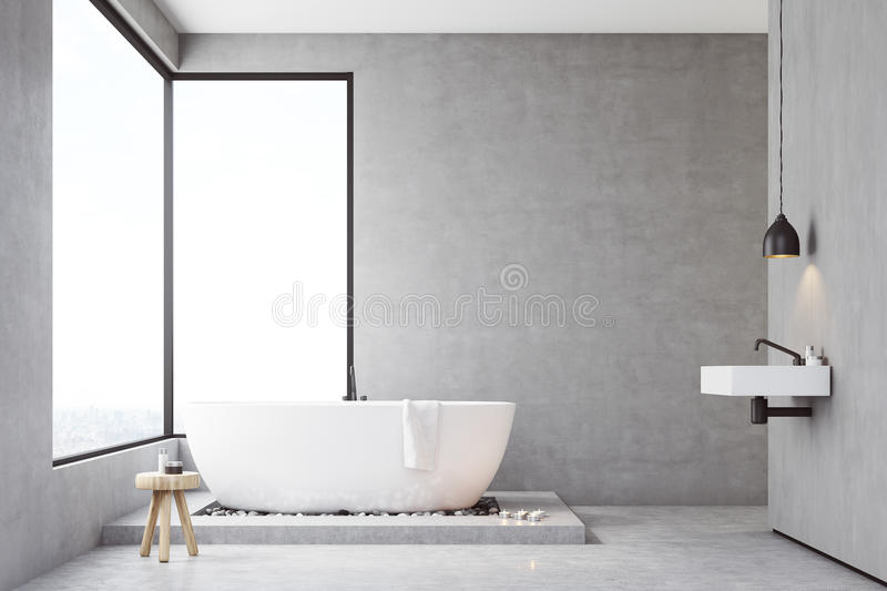 Download Bathroom With Concrete Walls Stock Illustration - Image: 83722064