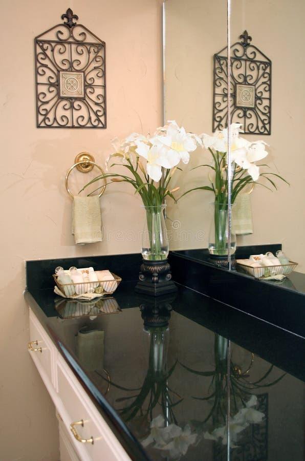 Download Bathroom Decor stock photo. Image of iron, towel, flowers - 6186186