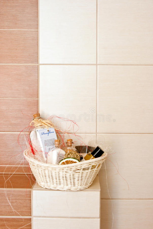 Download Bathroom decorations stock photo. Image of cosmetics - 23257918