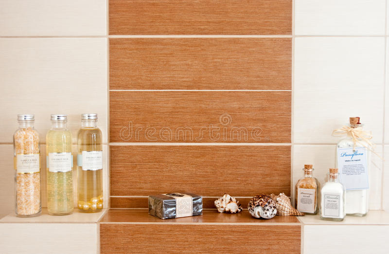Download Bathroom decorations stock image. Image of shelf, wall - 23327389