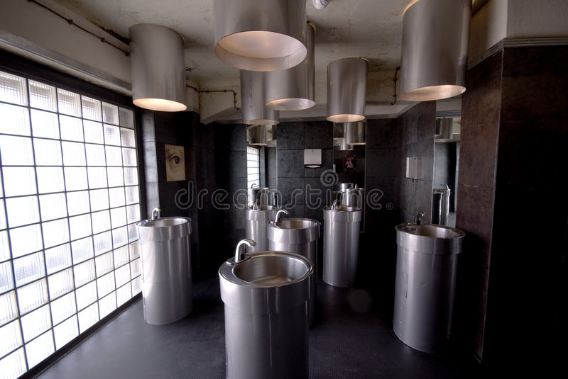 Bathroom in electricyty stock image