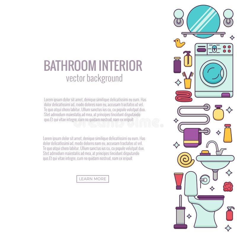 BATHROOM-END ilustración del vector